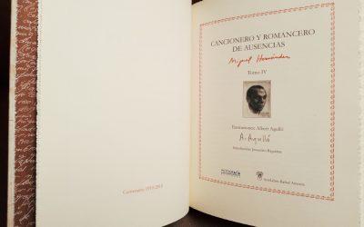 Pintura de Agulló para ilustrar una edición especial de Miguel Hernández